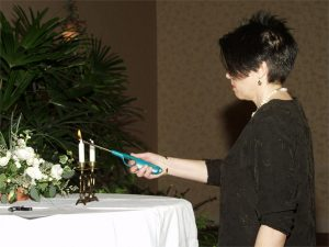 Lighting the Sabbath Candles